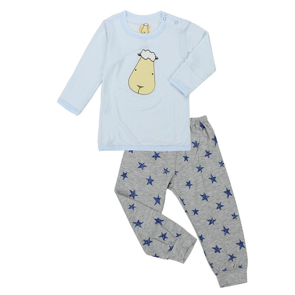 Pyjamas Set Big Face Blue + Blue Star Grey