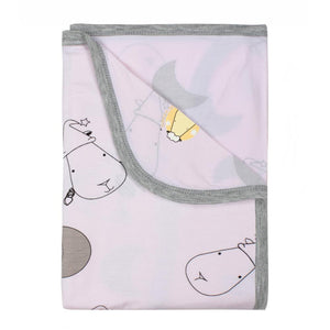 Single Layer Blanket Big Moon & Sheepz Pink