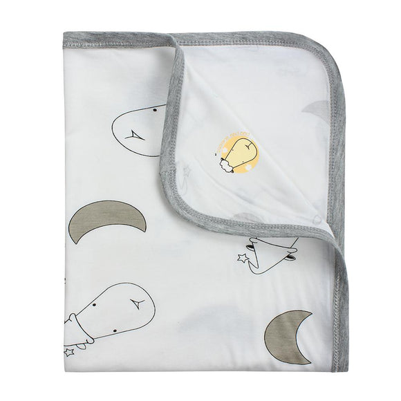 Single Layer Blanket Big Moon & Sheepz White - 36M
