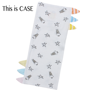 Bed-Time Buddy Case Small Star & Sheepz White with Color & Stripe tag - Small