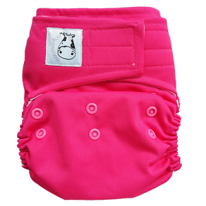 Cloth Diaper One Size Aplix - Candy Pink