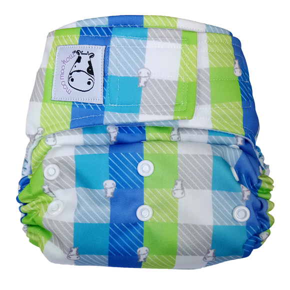 Cloth Diaper One Size Aplix - Checkers
