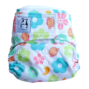 Cloth Diaper One Size Aplix - Mooky Flower