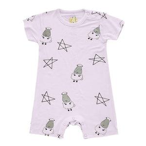 Romper Short Sleeve Big Star & Sheepz Pink