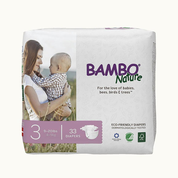 Bambo Nature Baby Diaper [Size 3 / 4-9kg] 33/pack