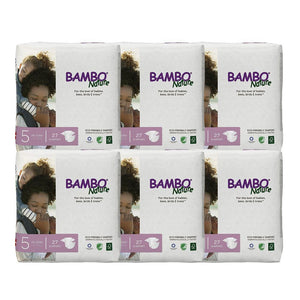 Bambo Nature Baby Diaper [Size 5 / 11-25kg] 27/pack, 6-packs