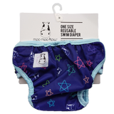 One Size Swim Diaper Color Star with Blue Border