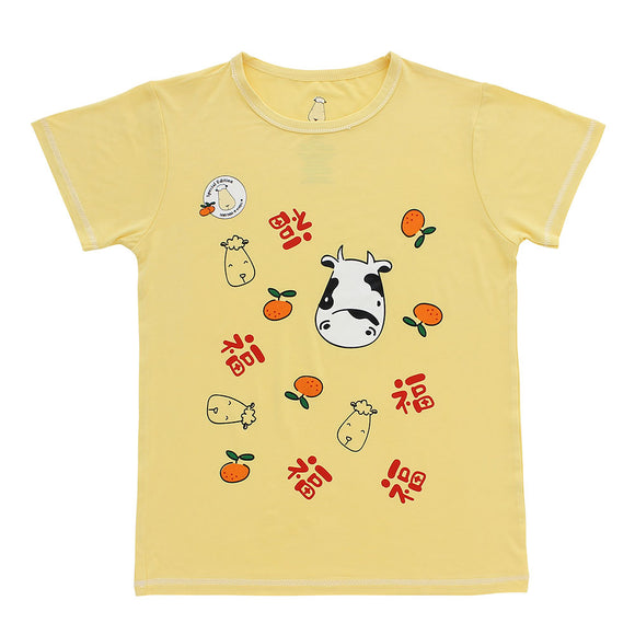 SPECIAL EDITION - Unisex Short Sleeve T-Shirt Moo Moo New Year Yellow