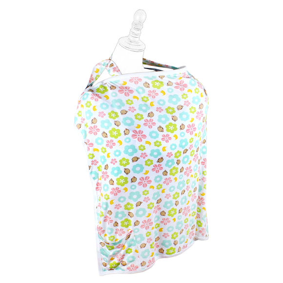 DooDooMooky Bamboo Nursing Cover Apron Type Adjustable size Mooky Flower