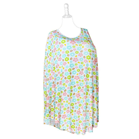 DooDooMooky Bamboo Nursing Cover Poncho Type Mooky Flower