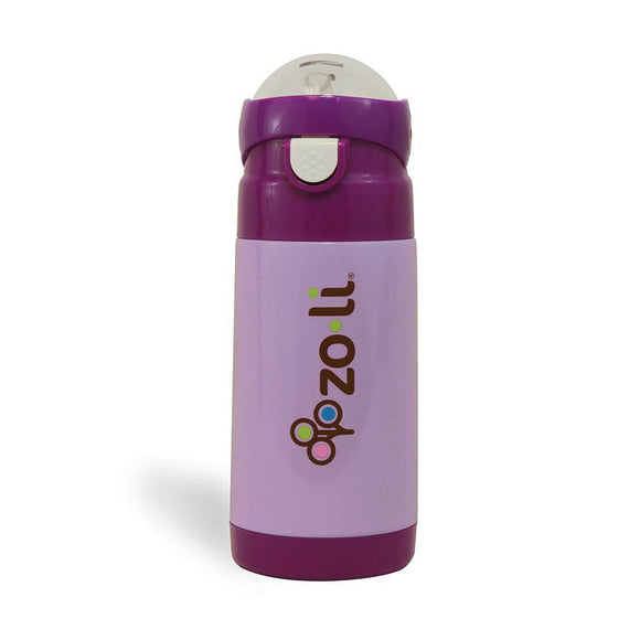 ZoLi D.LITE Purple 12 oz. vacuum insulated straw drink bottle
