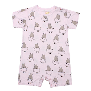 Romper Short Sleeve Pink Big Sheepz