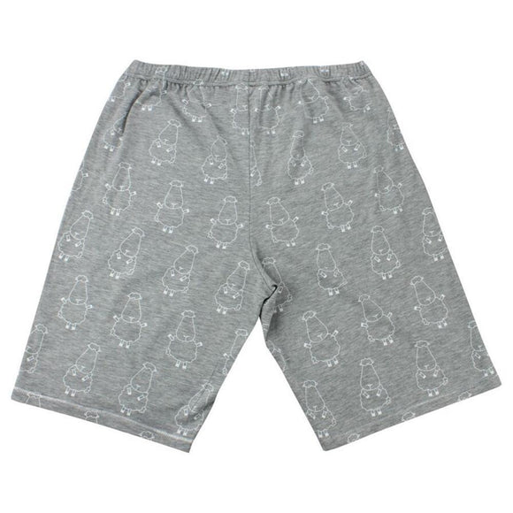 bamboo men short grey