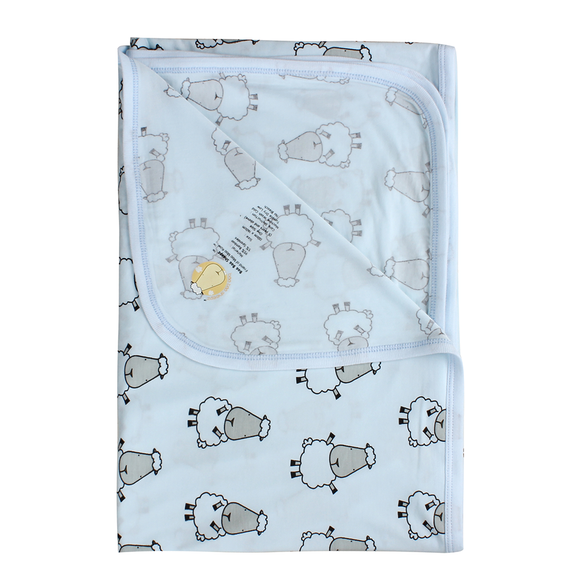 bamboo blanket baby blue