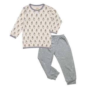 Pyjamas Set Small Sheepz Yellow + Big Moon & Sheepz Grey