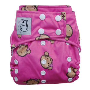 Cloth Diaper One Size Snap - Lucky Mooky