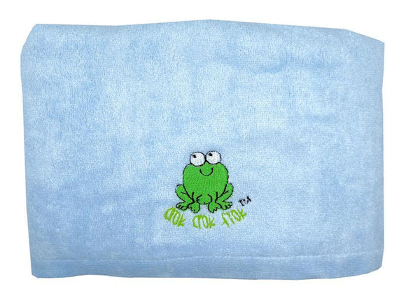 CrokCrokFrok Bamboo Towel for Kids & Adult - Blue - Large