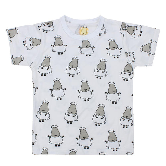 Unisex Short Sleeve T-Shirt Big Sheepz White