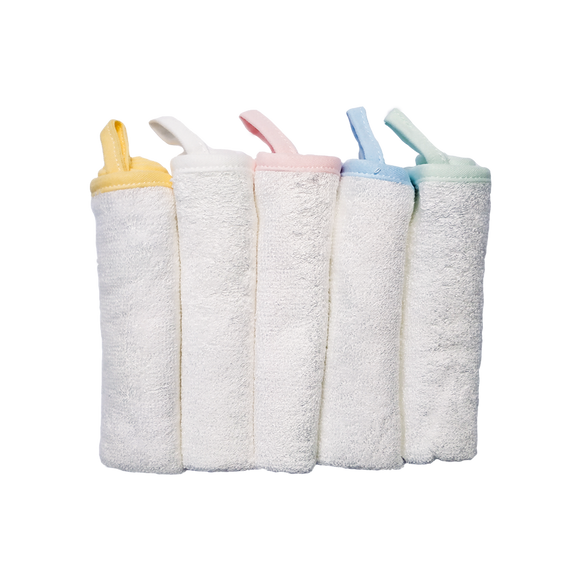 CrokCrokFrok Bamboo Wash Cloth - Bundle of 5 Pieces
