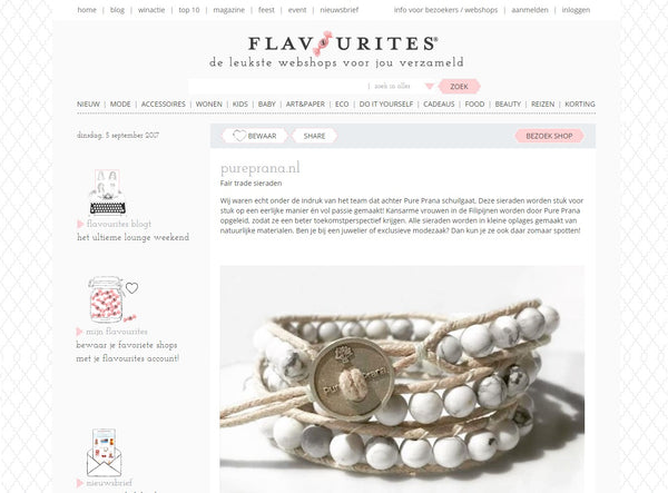 Flavourites Pure Prana Fair trade sieraden