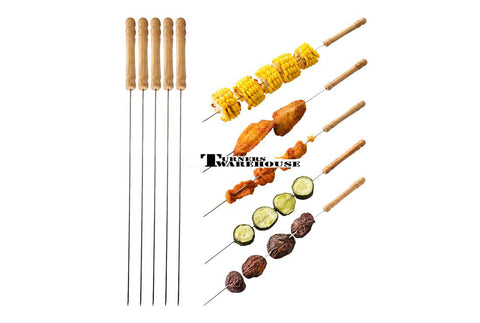 Stainless Steel Skewer Set - 5 pack
