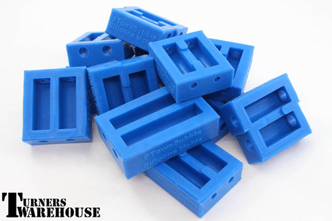 Tube in Silicone Casting Molds, Blue Epoxy Resin, Alumilite
