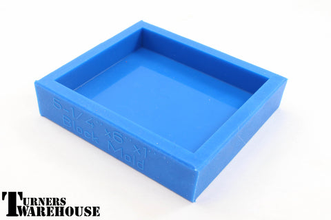 Blue Block Mold,   Polyester, Epoxy  & Alumilite Resins Silicone Casting Molds