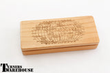 Engraved Maple Wood Pen Box