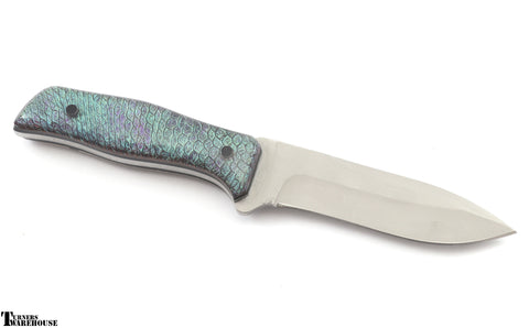 Knife Scales Blank - Dragon Scales Color-shift  - Polymer Clay with Pigments by Jennifer Earley
