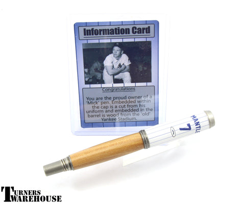 JR Gentlemen's Pen Blanks - Mickey Mantle & Yankee Stadium by Jason Rose