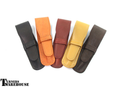 Mixed Leather Single Pen Pouch  - set of 5