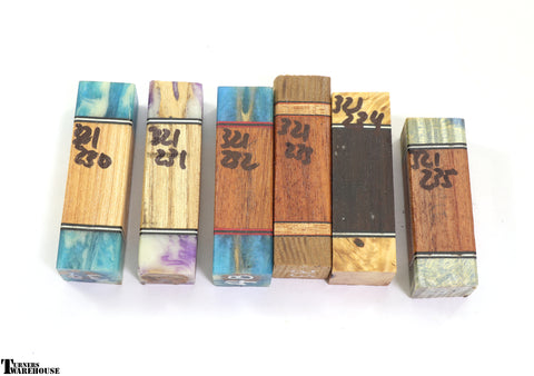 Assorted Dyed Burl Wood by Turners Warehouse
