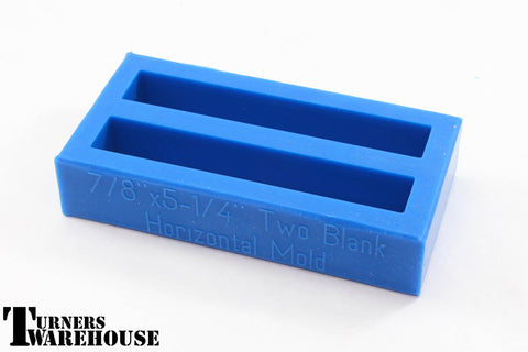 Blue 2 or 4 Blank Block Mold,   Polyester, Epoxy  & Alumilite Resins Silicone Casting Molds