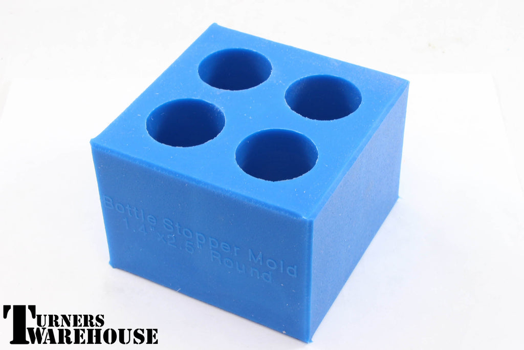 4 Bottle Stopper Small Blue Mold, Polyester, Epoxy & Alumilite Resins  Silicone Casting Molds