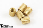 Knurled Brass Inserts for Stainless Steel Bottle Stoppers