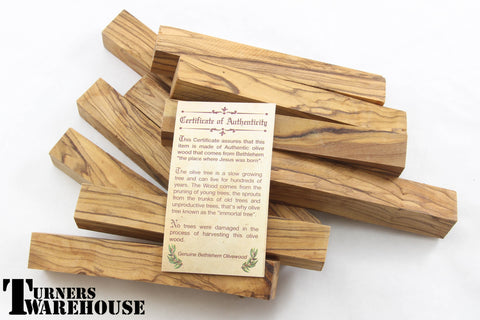 Premium Bethlehem Olive Wood Pen Blanks - Genuine Bethlehem Olive Wood