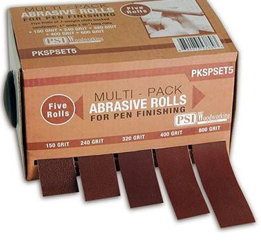 Multi-Pack Abrasives 5 Roll Set