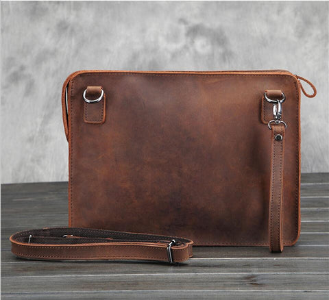 Men Vetro Genuine Cowhide Leather Business Bag Briefcase Messenger Shoulder Bags