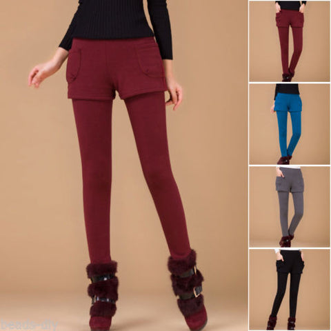 1PC BD Winter Autumn Fashion Women Slim Bodycon Thicken Warm Pants Leggings