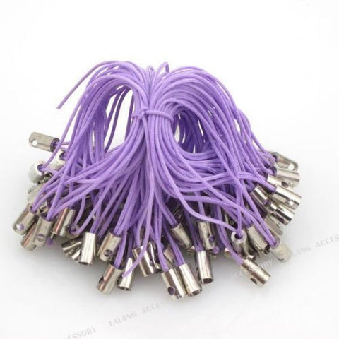 100pcs 130045Wholesale New Purple Cellphone Lariat Lanyards Free Ship