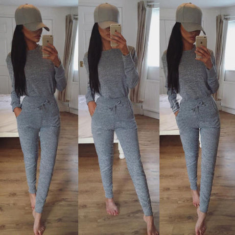 1Set Women Winter Tracksuits Warm Flannel Long Sleeve Tops & Pants Sports Suit