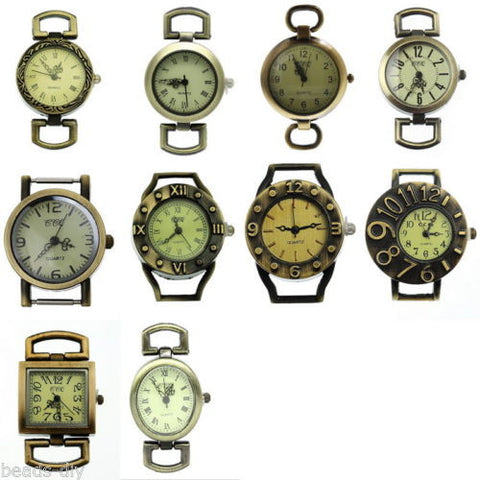 10pcs Mixed Retro Quartz Watch Face For Beading