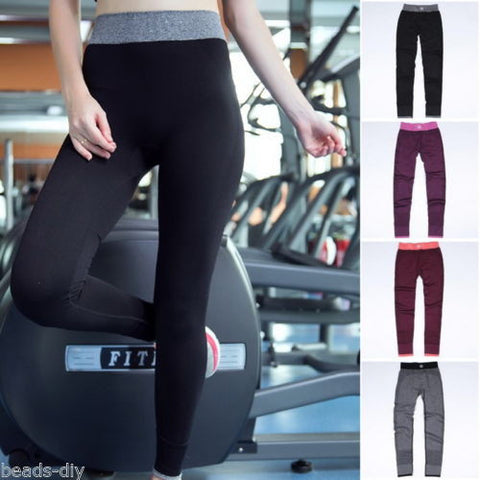 1PC Women Ladies Pro Running Capri Yoga Sport Elastic Leggings Pants Trouser