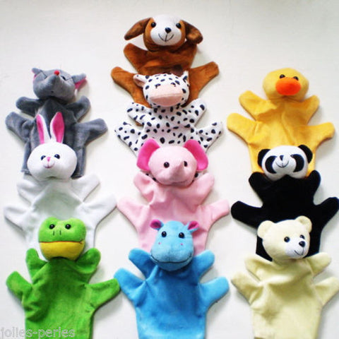 JP Hand Finger Puppets Parent-Child Toys Baby Educational Toy Animal Plush Toys