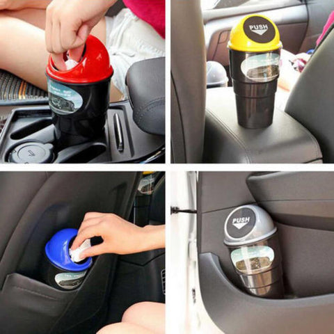 BD New Designer Multifunctional Car Accessories Mini Trash Garbage Can Storage