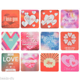 BD 1Box(38PCs) Paper Sticker Love Heart Red Home Decorative Baking Valentine