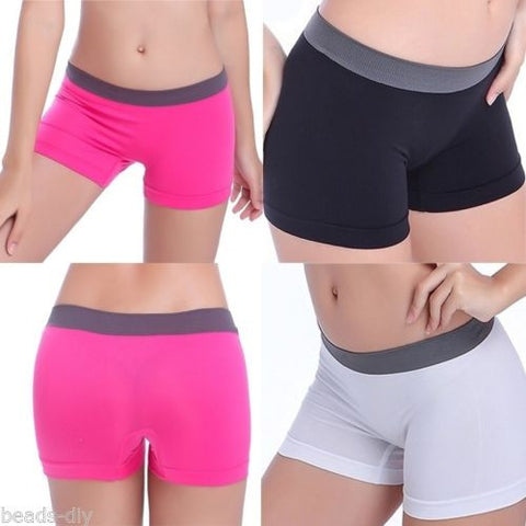 BD Womens Fashion Sport Gym Workout Waistband Underwear Pants Yoga Shorts