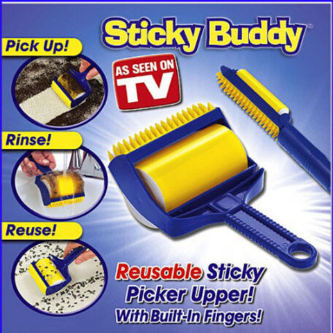 Sticky Buddy Reusable Picker Cleaner Lint Roller Pets Hair Remover Brush