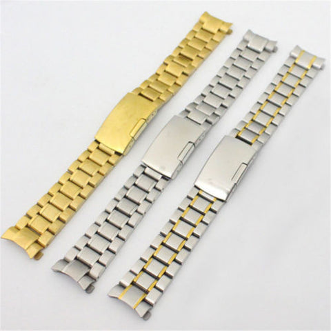 18mm 20mm 22mm Adjustable Stainless Steel Wrist Watch Band Watch Strap Arc End