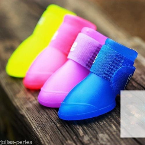 JP Dog Shoes Waterproof Protective Rubber Silicone Pet Rain Para Boots Botas